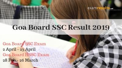 Check Goa SSC Exam Results 2019, Goa 10th Board Results 2019