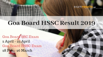 Goa HSSC Result 2019, Goa Board class 12th Result