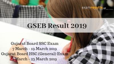 GSEB Result 2019, GSEB SSC & HSC Result 2019, GSEB Online Result