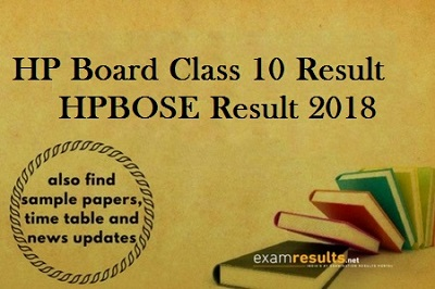 HP Class 10th results 2018