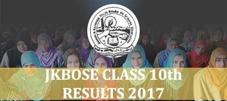 Jammu Kashmir Class 10 Results 2017