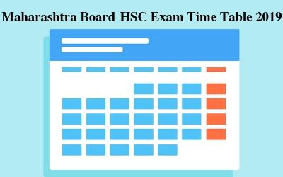 Maharashtra Board HSC Timetable 2019, Maharashtra Class 12th
