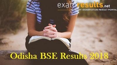 Odisha BSE Result 2018