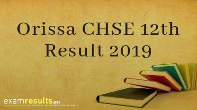 CHSE Odisha Results 2019, Odisha Plus Two Result 2019