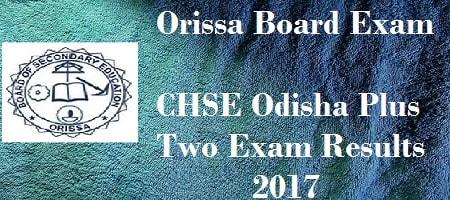 Orissa Class 12 Results 2017