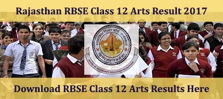 Rajasthan Class 12 Arts Results 2017