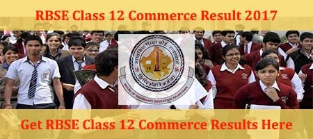 Rajasthan Class 12 Commerce Results 2017