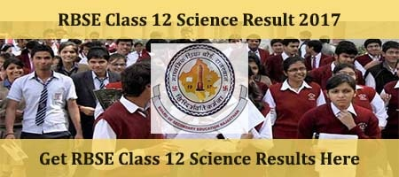 Rajasthan Class 12 Science Results 2017