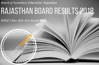 rajasthan board class 12th arts result 2018, rbse arts result 2018