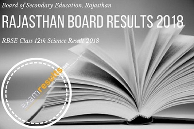 rajasthan class 12th science result 2018