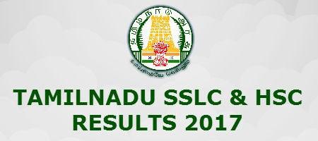 Tamilnadu SSLC HSC Results 2017