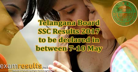 Telangana SSC / Class 10 Results 2017