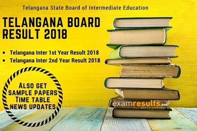 Telangana Class 12 Results 2018