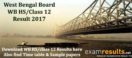West Bengal WBCHSE Results 2017