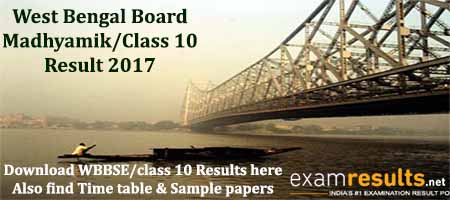 West Bengal WBBSE Results 2017