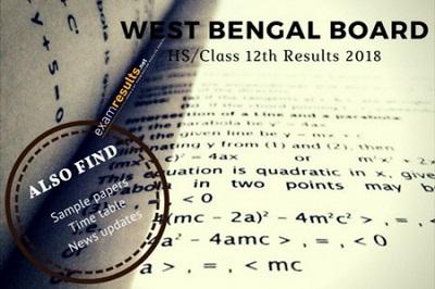 wbchse result 2018, WB HS Result 2018