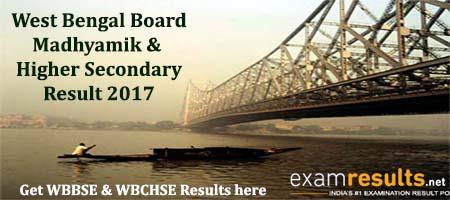 WB madhyamik & wbchse result 2017